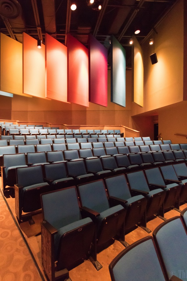 Interior of the Freeport LNG Theater in the Brazosport Center for the Arts and Sciences